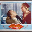 DF50 Too Young To Kiss VAN JOHNSON Portrait Lobby Card
