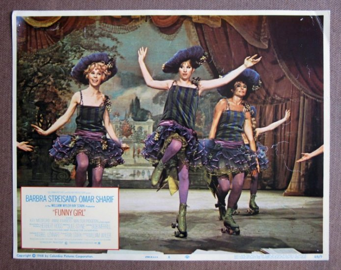 CT14 Funny Girl  STREISAND on skates '69 Lobby Card