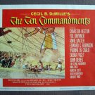 CU39A Ten Commandments CHARLTON HESTON '60 Lobby Card