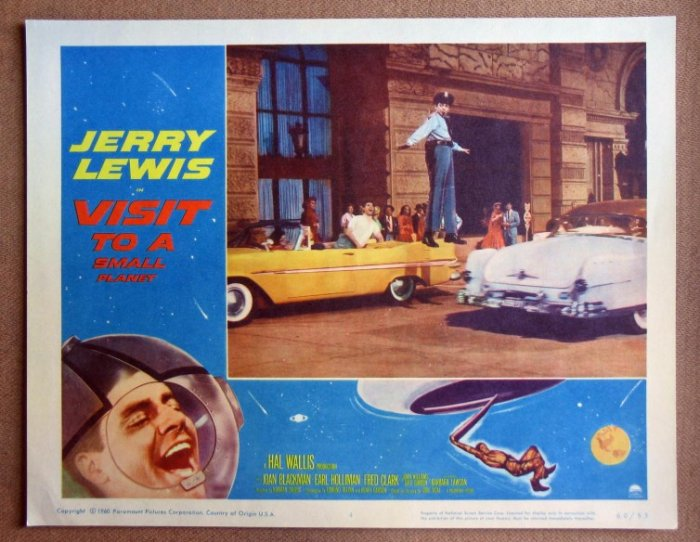 CY44 Visit To A Small Planet JERRY LEWIS '60 Lobby Card