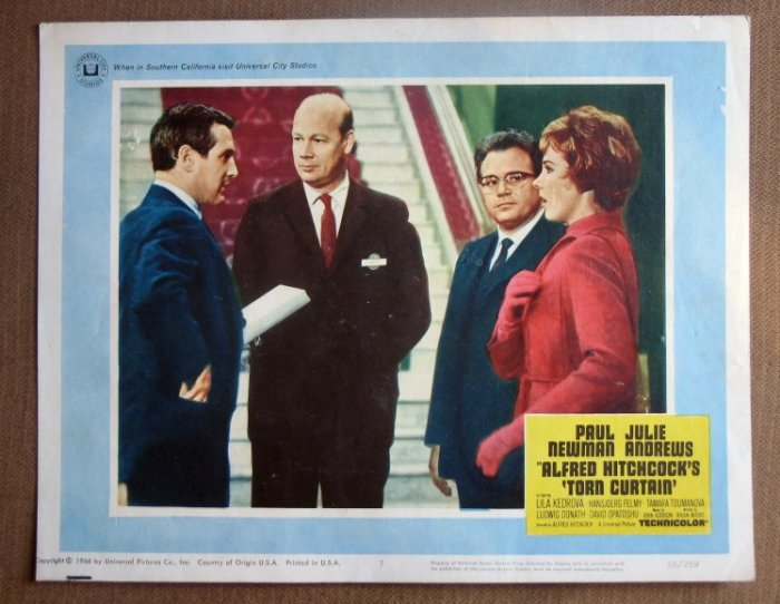 DI37 Torn Curtain JULIE ANDREWS/HITCHCOCK Lobby Card