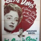 DE08 Corn Is Green BETTE DAVIS 1945 ONE SHEET POSTER