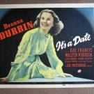 EC18 It's A Date DEANNA DURBIN 1940 Title Lobby Card
