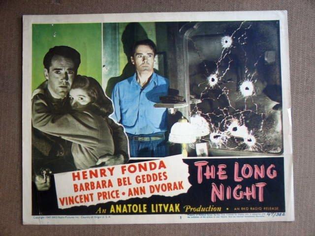 EC23 Long Night HENRY FONDA/BEL GEDDES 1947 Lobby Card