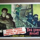 EC24 Long Night HENRY FONDA/BEL GEDDES 1947 Lobby Card