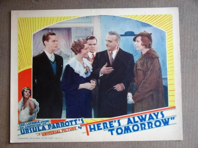 EC39 There's Always Tomorrow FRANK MORGAN Lobby Card