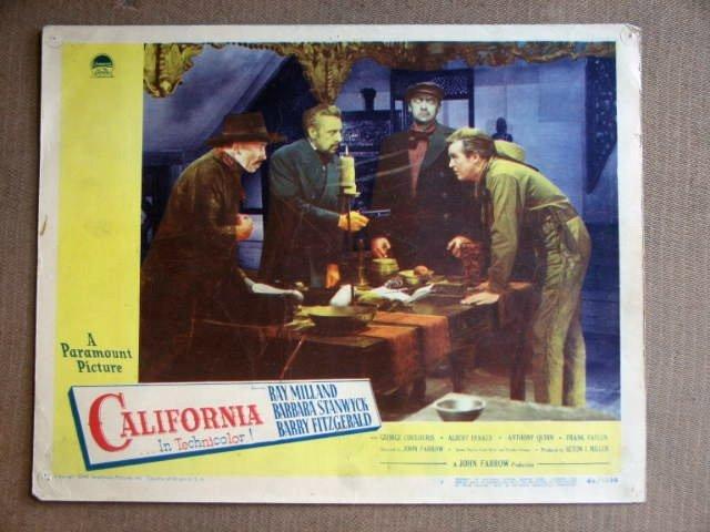 ED07 California RAY MILLAND/BARRY FITZGERALD Lobby Card