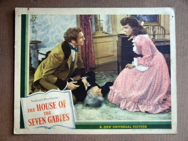 ED19 House Of 7 Gables VINCENT PRICE/LINDSAY Lobby Card