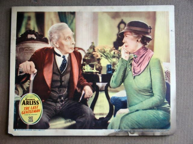 ED25 Last Gentleman GEORGE ARLISS 1934 Lobby Card