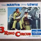 ED45 3 Ring Circus DEAN MARTIN/JERRY LEWIS Lobby Card