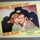 ED50 Where There's Life BOB HOPE 47 Portrait Lobby Card