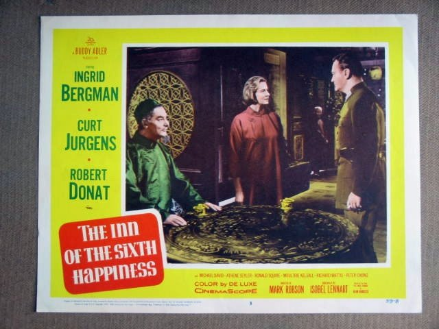 EE05 Inn Sixth Happiness INGRID BERGMAN mint Lobby Card
