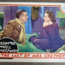 EF23 Last Of Mrs Cheney JOAN CRAWFORD 1937 Lobby Card