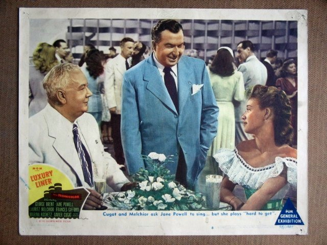 EF25 Luxury Liner JANE POWELL/XAVIER CUGAT Lobby Card