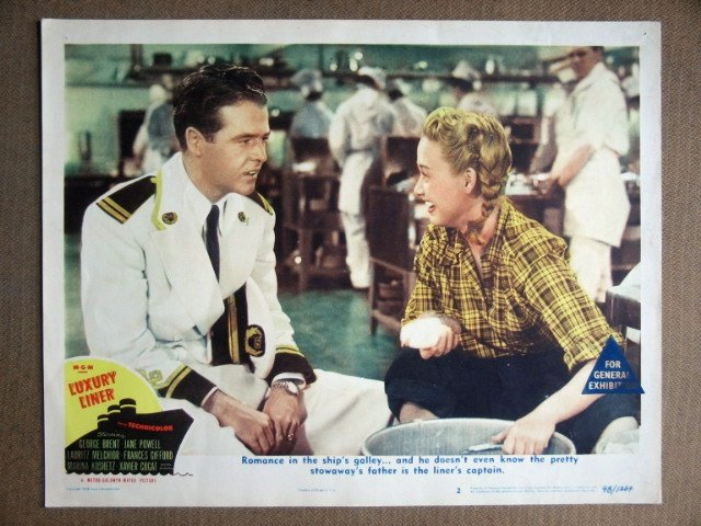 EF26 Luxury Liner JANE POWELL/L MELCHIOR Lobby Card