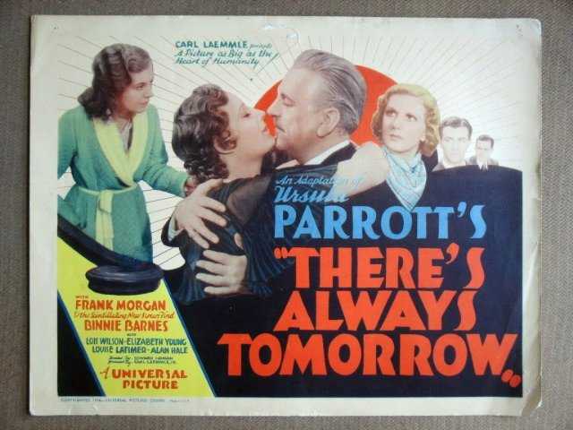 EF42 There's Always ROBERT TAYLOR 1934 Title Lobby Card