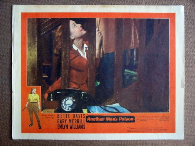 EG02 Another Man's Poison BETTE DAVIS 1952 Lobby Card