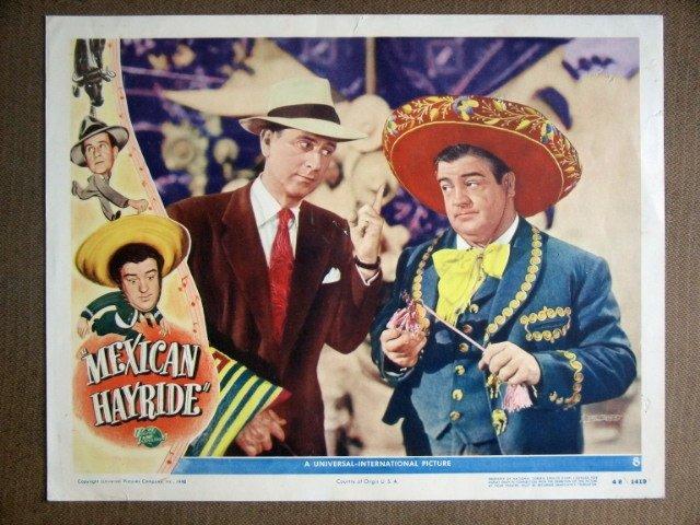EG25 Mexican Hayride BUD ABBOTT/LOU COSTELLO Lobby Card
