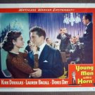 EG49 Young Man With Horn L BACALL/K DOUGLAS Lobby Card