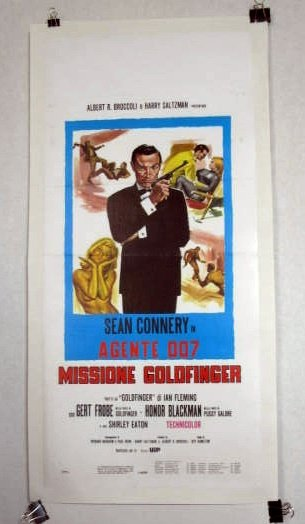 EH01 Goldfinger SEAN CONNERY/BOND Italian Folio Poster