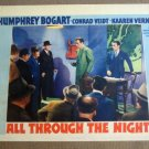 EH03 All Through The Night HUMPHREY BOGART Lobby Card