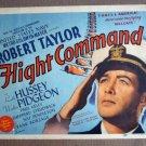EH18 Flight Command ROBERT TAYLOR 1940 Title Lobby Card
