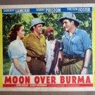 EH40 Moon Over Burma DOROTHY LAMOUR/PRESTON Lobby Card