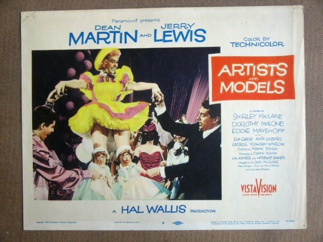 EI04 Artists Models JERRY LEWIS/DEAN MARTIN Lobby Card