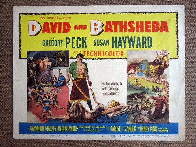 EI12 David & Bathsheba GREGORY PECK Title Lobby Card