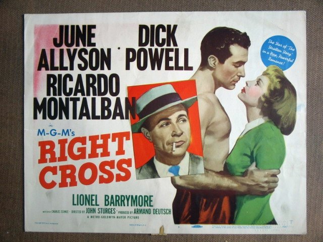 EI27 Right Cross DICK POWELL/ALLYSON Title Lobby Card