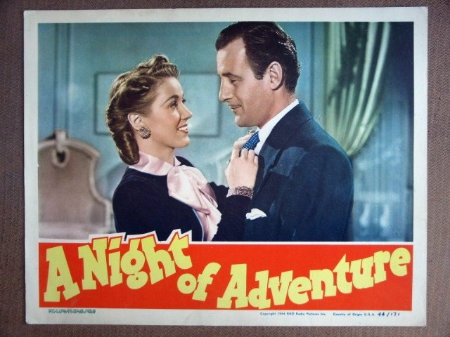 EJ39 Night Of Adventure TOM CONWAY Portrait Lobby Card