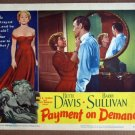 EJ42 Payment On Demand BETTE DAVIS 1951 Lobby Card