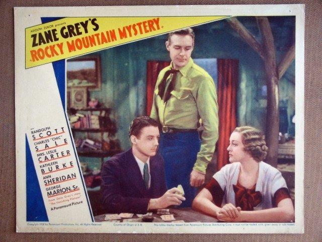 EJ46 Rocky Mt Mystery RANDOLPOH SCOTT 1935 Lobby Card
