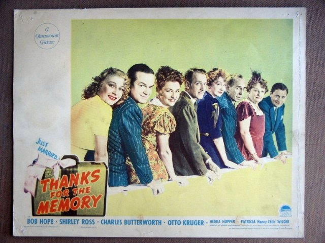 EJ52 Thanks for Memory BOB HOPE/HEDDA HOPPER Lobby Card