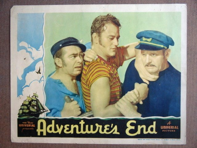 EL03 Adventure's End JOHN WAYNE '37 Portrait Lobby Card