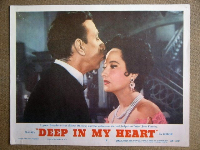 EL13 Deep In My Heart MERLE OBERON Portrait Lobby Card