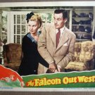 EL16 Falcon Out West TOM CONWAY/BARBARA HALE Lobby Card