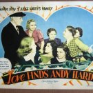 EL28 Love Finds Andy Hardy JUDY GARLAND 1938 Lobby Card