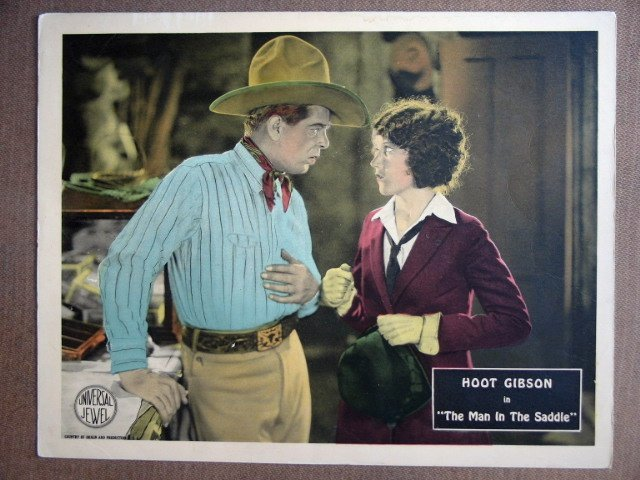 EL30 Man In Saddle HOOT GIBSON/FAY WRAY 1926 Lobby Card