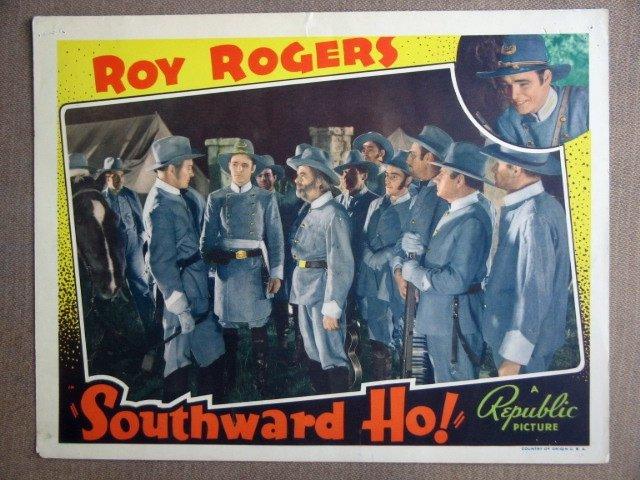 EL41 Southward Ho ROY ROGERS/GABBY HAYES '38 Lobby Card