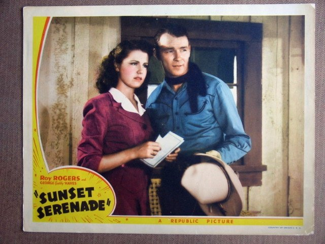 EL42 Sunset Serenade ROY ROGERS Portrait Lobby Card