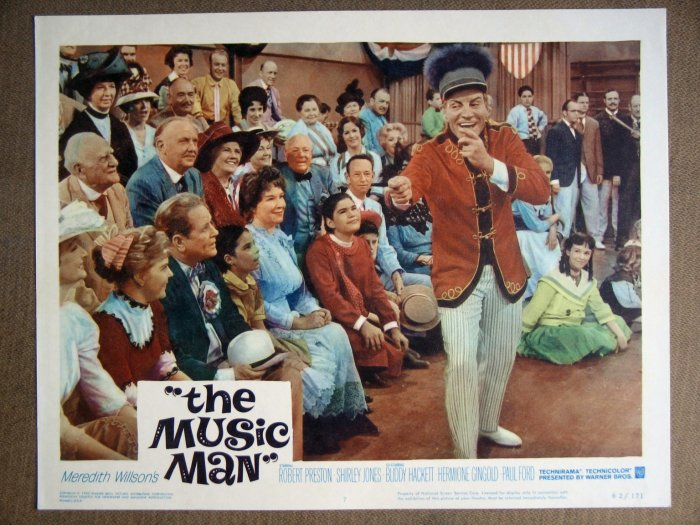 EM25 Music Man ROBERT PRESTON 1962 Lobby Card
