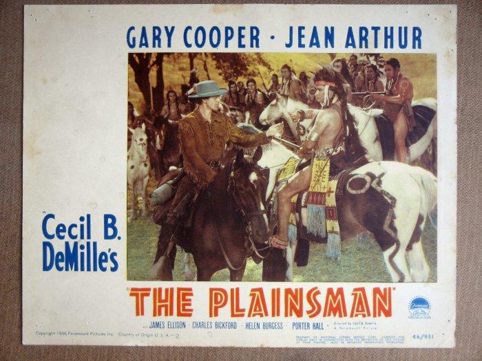 EM30 Plainsman GARY COOPER/Cecil B DeMille Lobby Card