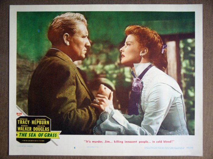 EM36 Sea Of Grass HEPBURN/TRACY Portrait Lobby Card