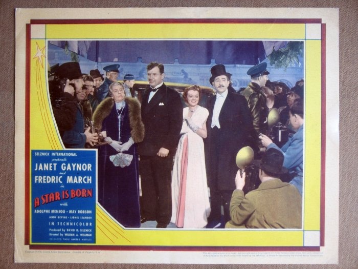 EM38 Star Is Born JANET GAYNOR/FREDRIC MARCH Lobby Card