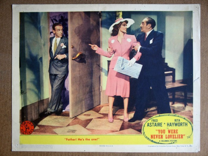 EM48 You Were Never Lovlier FRED ASTAIRE '42 Lobby Card