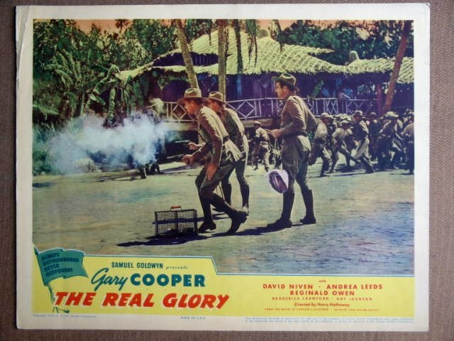 EN39 Real Glory GARY COOPER/DAVID NIVEN 1939 Lobby Card