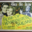 EN40 Rose Of Washington Sq  AL JOLSON Title Lobby Card
