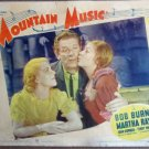 EO30 Mountain Music MARTHA RAYE '37 Portrait Lobby Card