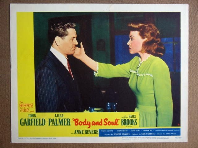 EP07 Body & Soul JOHN GARFIELD/ANNE REVERE Lobby Card